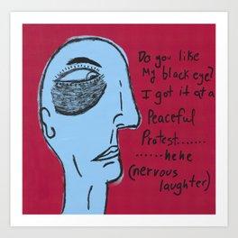 Nervous Laughter Art Print