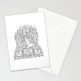 Information Antelope - Black Lines Stationery Cards