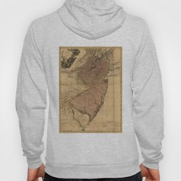 Vintage Map of New Jersey (1777) Hoody