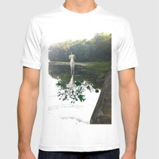 Gladys on Water Mens Fitted Tee MEDIUM White
