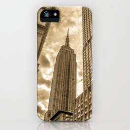 Golden Empire State Building iPhone Case