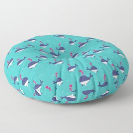 I Whale Always Love You Floor Pillow