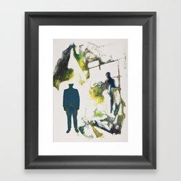 Drawn Restraint (Past) Framed Art Print