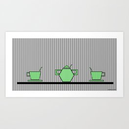 Tea set 2 Art Print
