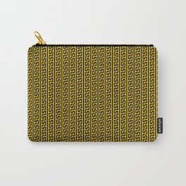 Greek Key Full - Gold and Black Carry-All Pouch