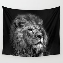 Proud Young Lion Wall Tapestry