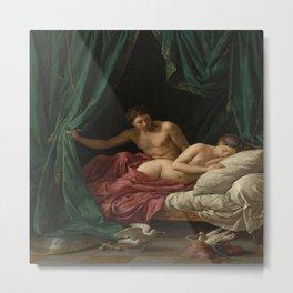 Louis-Jean-Francois Lagrenee's Mars and Venus Allegory of Peace Metal Print