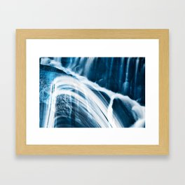 Blue Banshee Falls Framed Art Print