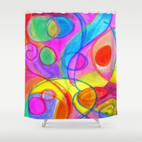 carnival Shower Curtains featuring Carnival by Dion Dior