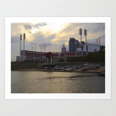 Cincy River Boat Art Print