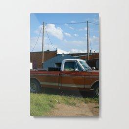 truck in west, tx Metal Print