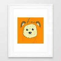 ewok Framed Art Prints featuring Ewok by Demonology7789