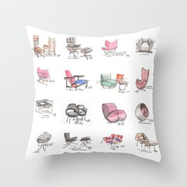 Classic Chair Designs Throw Pillow