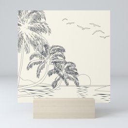 Beach Linescape Mini Art Print
