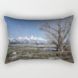 Grand Tetons from Gros Ventre Rectangular Pillow