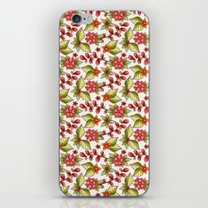 Red sweet flowers iPhone Skin