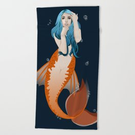 Deep Reef Mermaid Beach Towel
