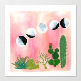 Gemini Moons Canvas Print