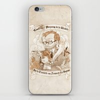 bouletcorp iPhone & iPod Skins featuring Autoportrait by Bouletcorp