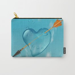 Stabbed water drop heart Carry-All Pouch