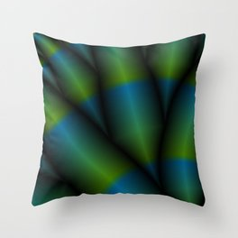 Cyber Aloe Throw Pillow