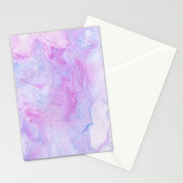 Violet marble Stationery Cards