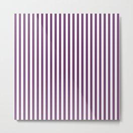 Eminence Small Vertical Stripes   Interior Design Metal Print