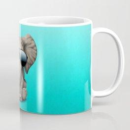 Cute Baby Elephant Wearing Sunglasses Coffee Mug