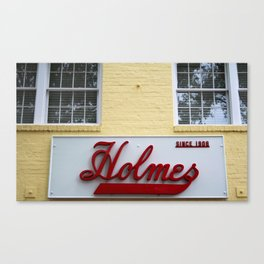 Holmes Store Sign Canvas Print