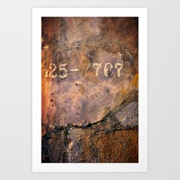 Cement Numbers Art Print