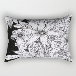 Flowers over Stars Rectangular Pillow