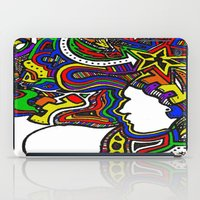 techno iPad Cases featuring Rainbow Techno by Madison R. Leavelle