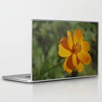 rileigh smirl Laptop & iPad Skins featuring Orange Flower by Rileigh Smirl