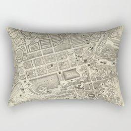 Vintage Map of Edinburgh Scotland (1844) Rectangular Pillow