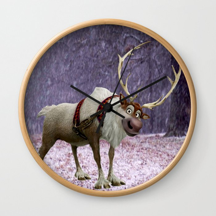 Reindeer Are Better Than People Wall Clock