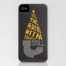 Pierce The Heavens With Your Drill iPhone (4, 4s) Slim Case