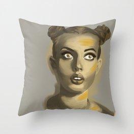 Moutarde au nez Throw Pillow