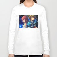 kingdom hearts Long Sleeve T-shirts featuring KINGDOM OF HEARTS by Cat Milchard