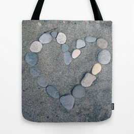 Stone Heart Tote Bag