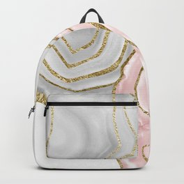 Yin Yang Agate Gold Glam #1 #gem #decor #art #society6 Backpack