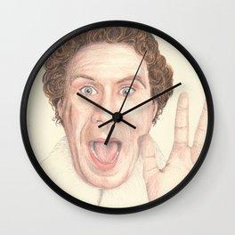 Buddy the elf, Christmas themed portrait, coloured pencil Wall Clock