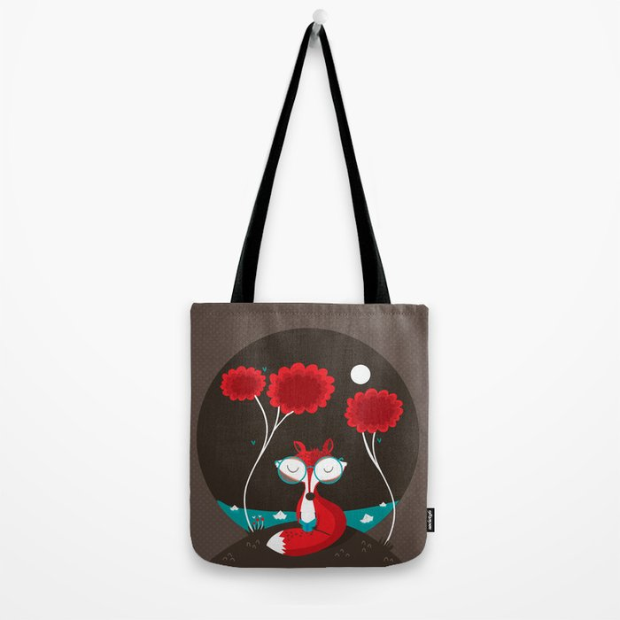 About a red fox Tote Bag