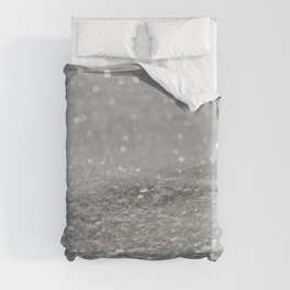 Glitter Silver Duvet Cover