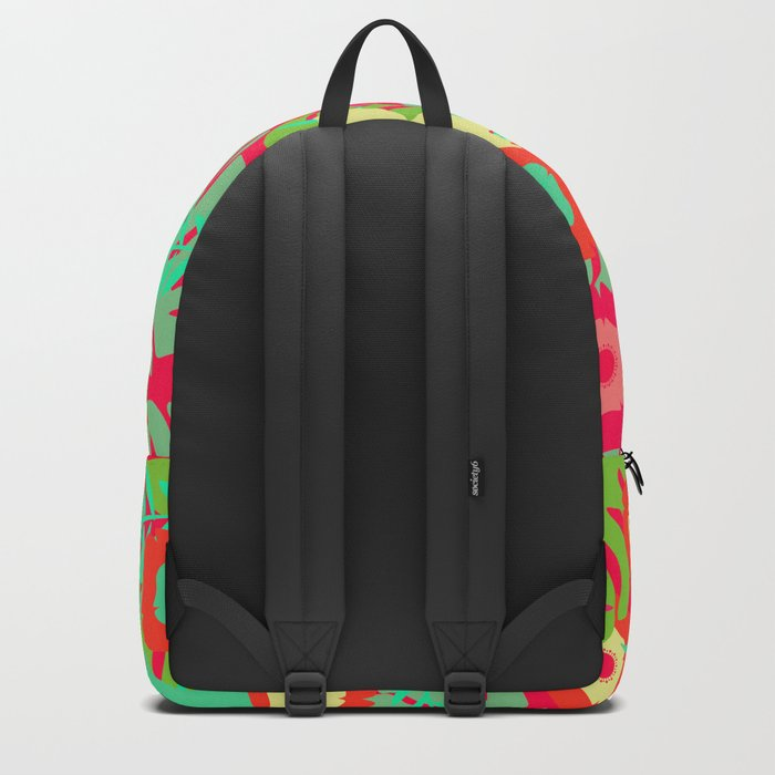Tropical pattern with hummingbirds Backpack