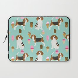 beagle ice creams dog lover pet gifts cute beagles pure breeds Laptop Sleeve