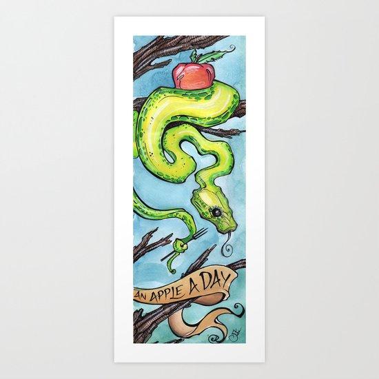 Eat Your Apples Art Print