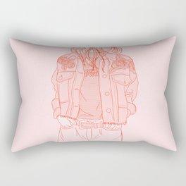 rose embroideries Rectangular Pillow