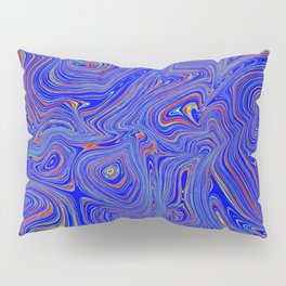Blue Oil spill Pillow Sham