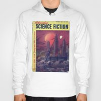 sci fi Hoodies featuring Retro 1951 Sci-Fi by InvaderDig