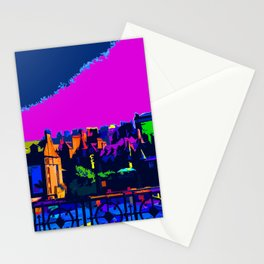 Edinburgh at Night Scotland Stationery Cards